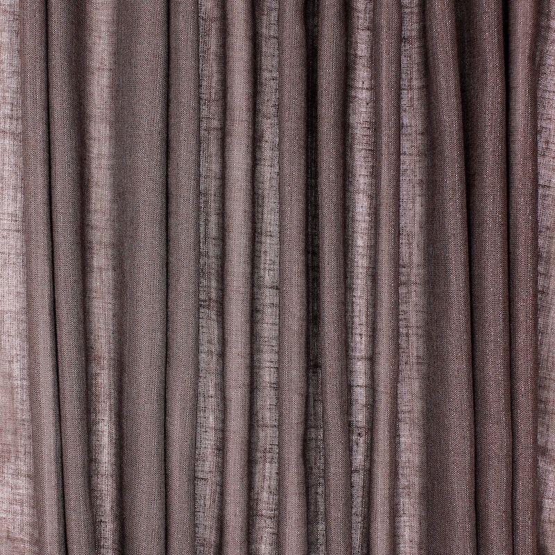 Transparent veil with glittery linen aspect - brown