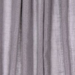 Transparent veil with glittery linen aspect - light grey