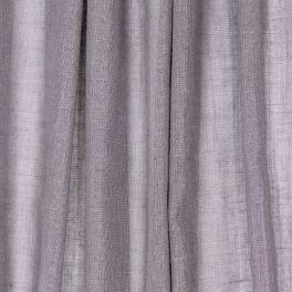 Voile transparent aspect lin pailleté - gris clair