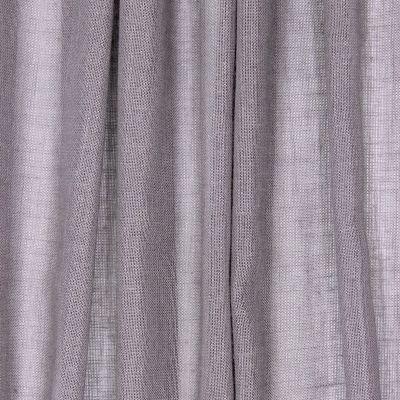 Doorzichtige sluier met linnen aspect - lichtgrijs