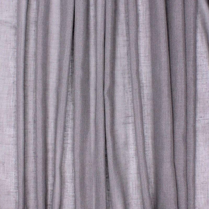 Transparent veil with glittery linen aspect - light grey