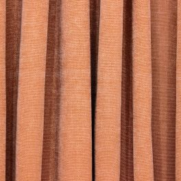 Upholstery fabric in emerised cotton - brown