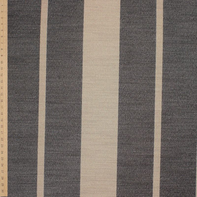 Tissu d'ameublement double face rayures - anthracite