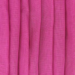 Transparent veil with leaded linen aspect - fuchsia