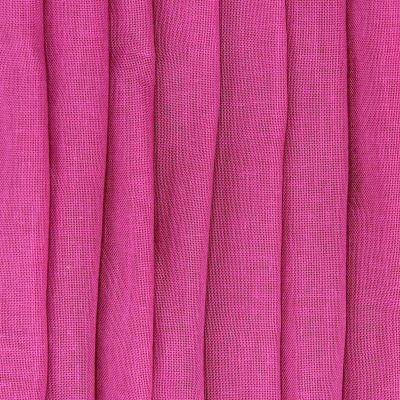 Voile transparent aspect lin plombé - fuchsia