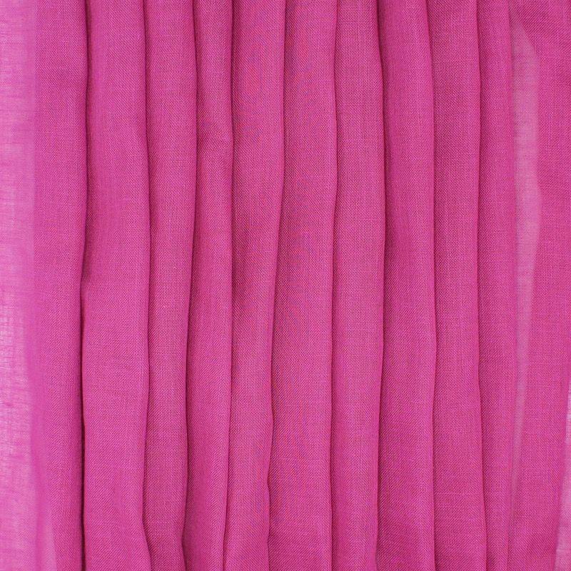 Transparent veil with leaded linen aspect - fuchsia