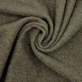 Tissu laine uni -  vert