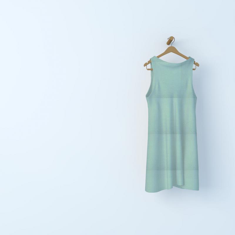 Tissu double gaze de coton pois dorés - vert de gris