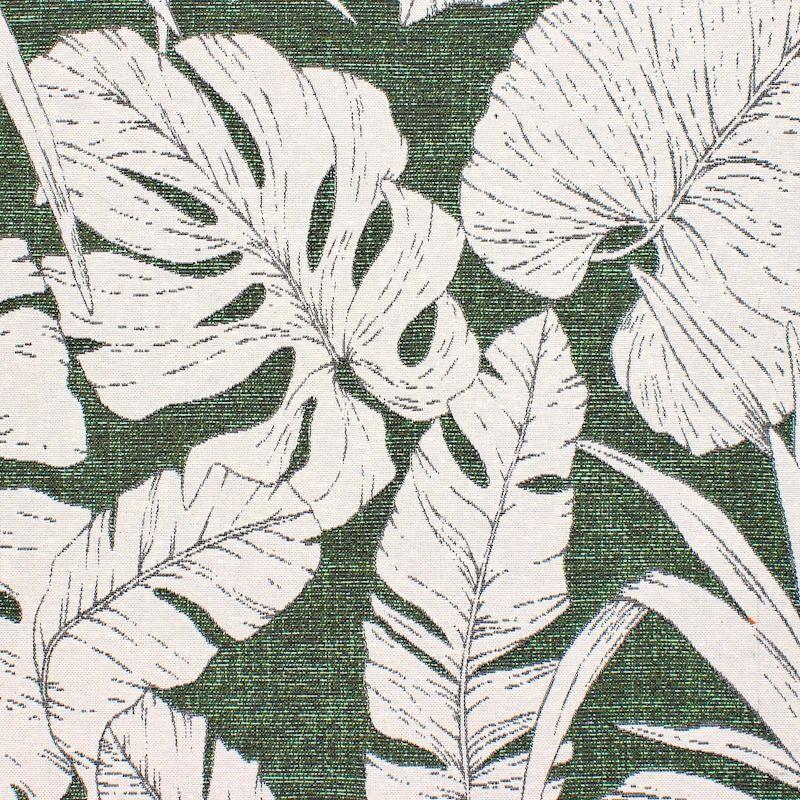Tissu d'ameublement jacquard végétal - vert