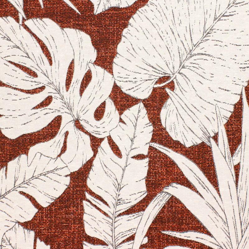 Jacquard upholstery fabric foliage pattern - rust