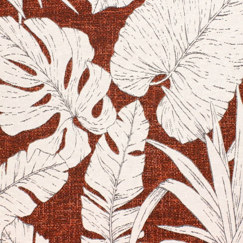 Tissu d'ameublement jacquard végétal - rouille
