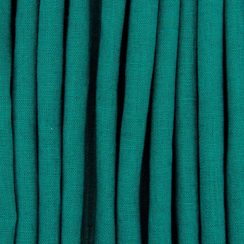 100% washed linen - plain green