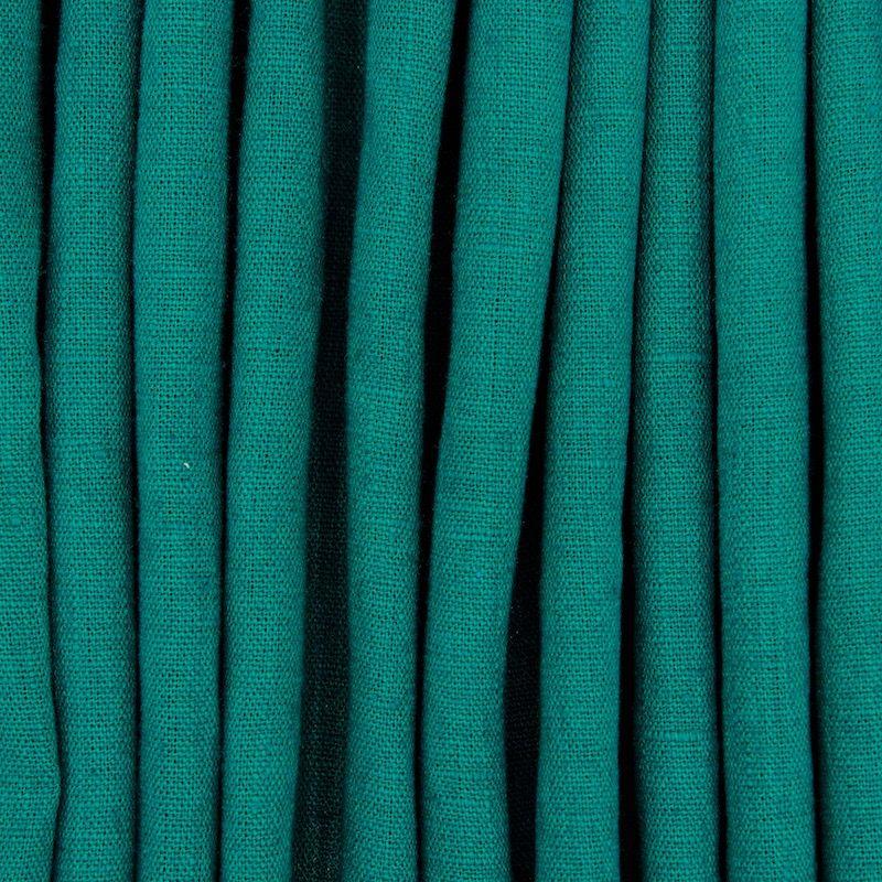 Tissu en 100% lin lavé uni vert