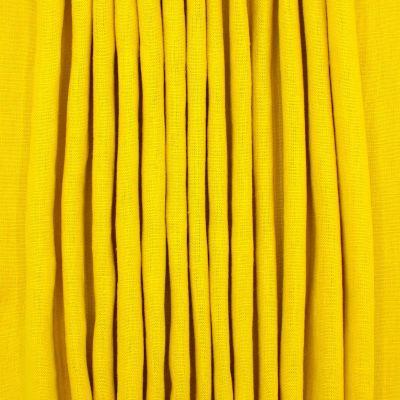 Tissu en 100% lin lavé uni jaune