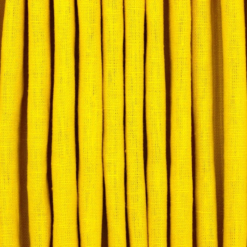 100% washed linen - plain yellow