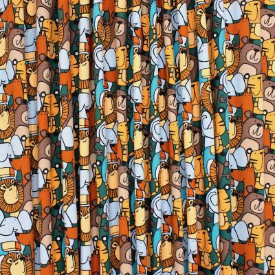 Cotton with animals - multicolored