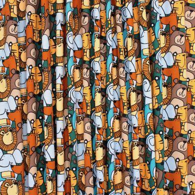 Tissu coton animaux - multicolore