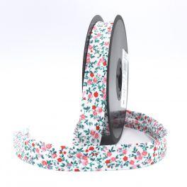 Bias binding with white dots - pink