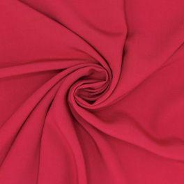 Tissu viscose uni - rouge sang