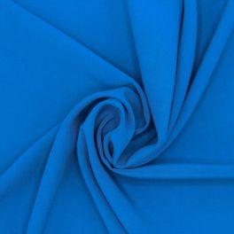 Tissu viscose uni - bleu