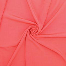 Tissu viscose uni - corail