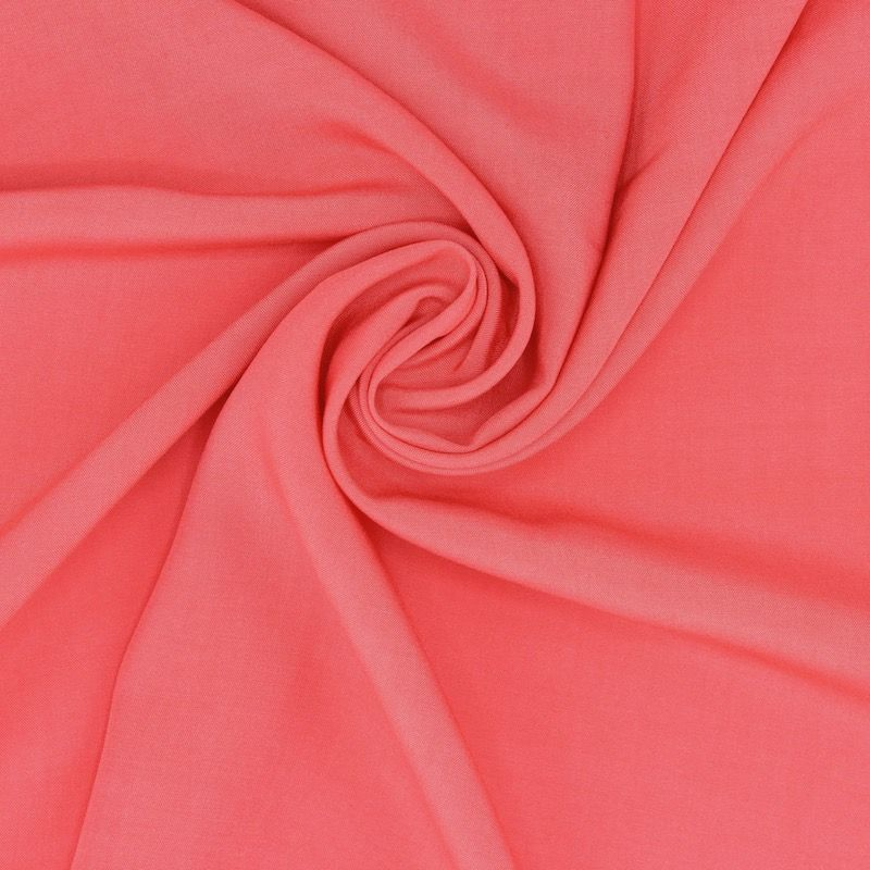 Plain viscose fabric - coral