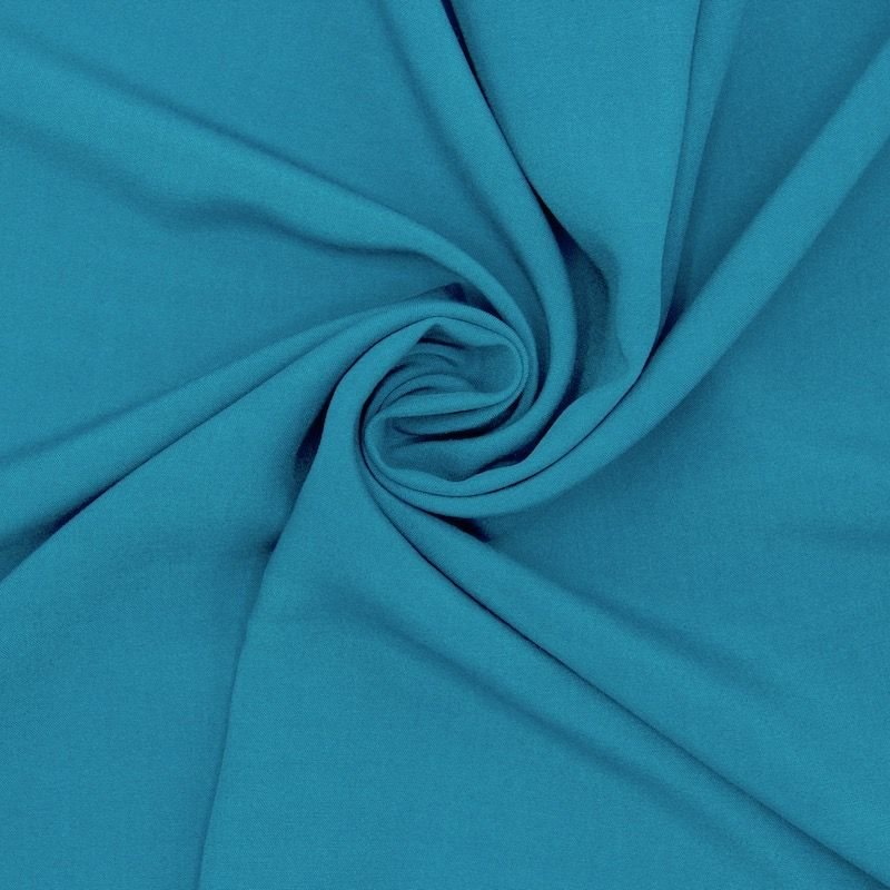 Tissu viscose uni - paon