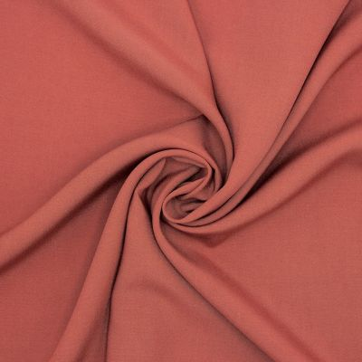 Plain viscose fabric - rust-colored