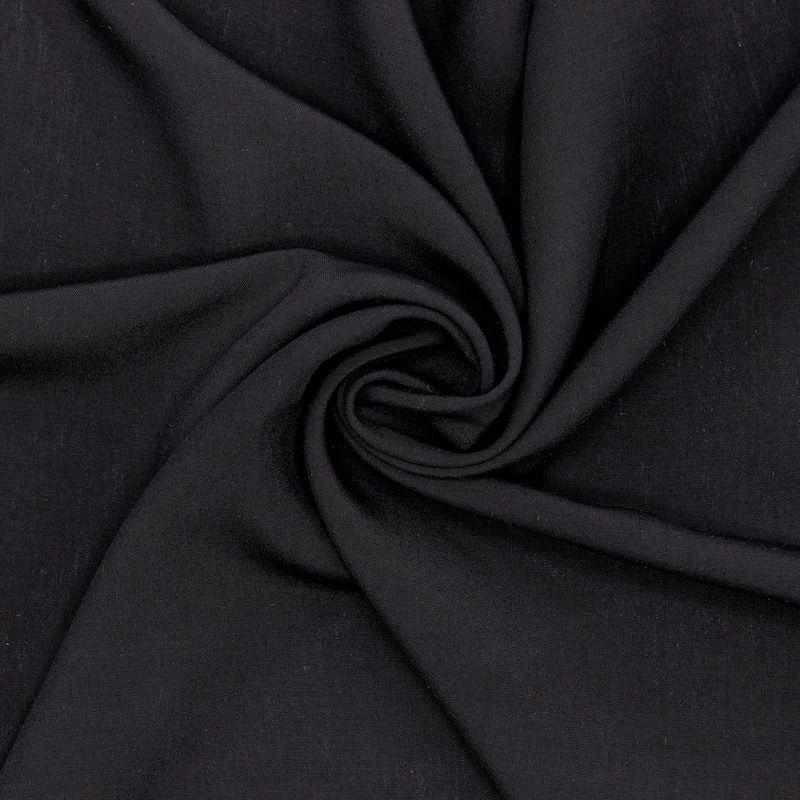 Tissu viscose uni - noir