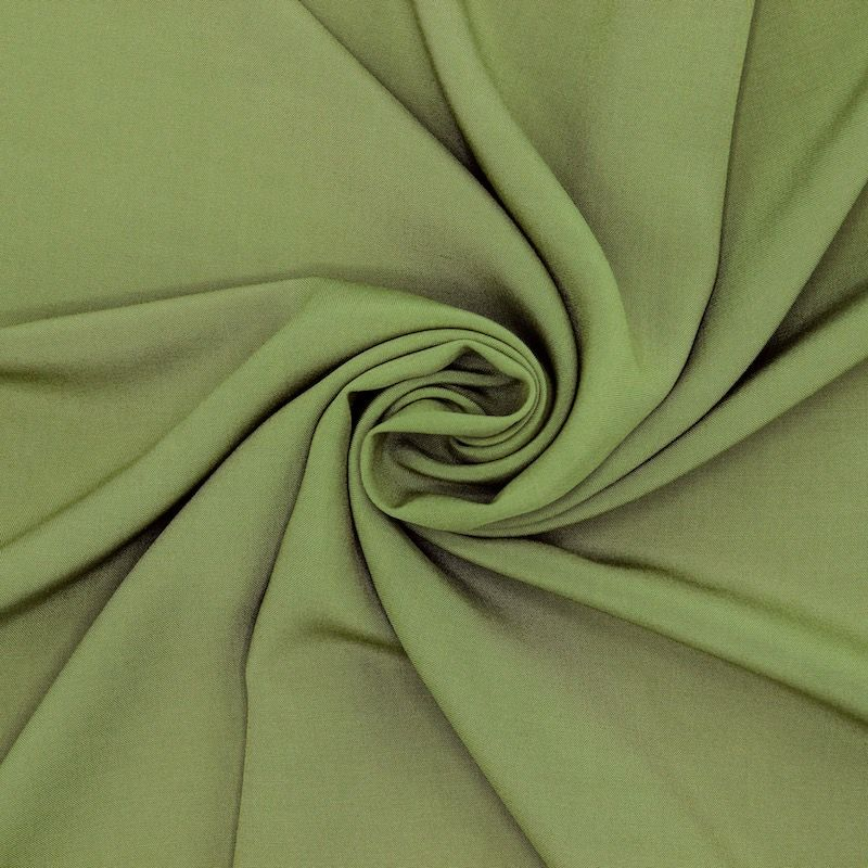 Tissu viscose uni - vert avocat