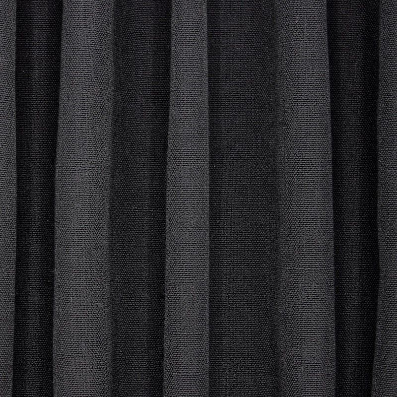 Meubelstof met linnen aspect - zwart