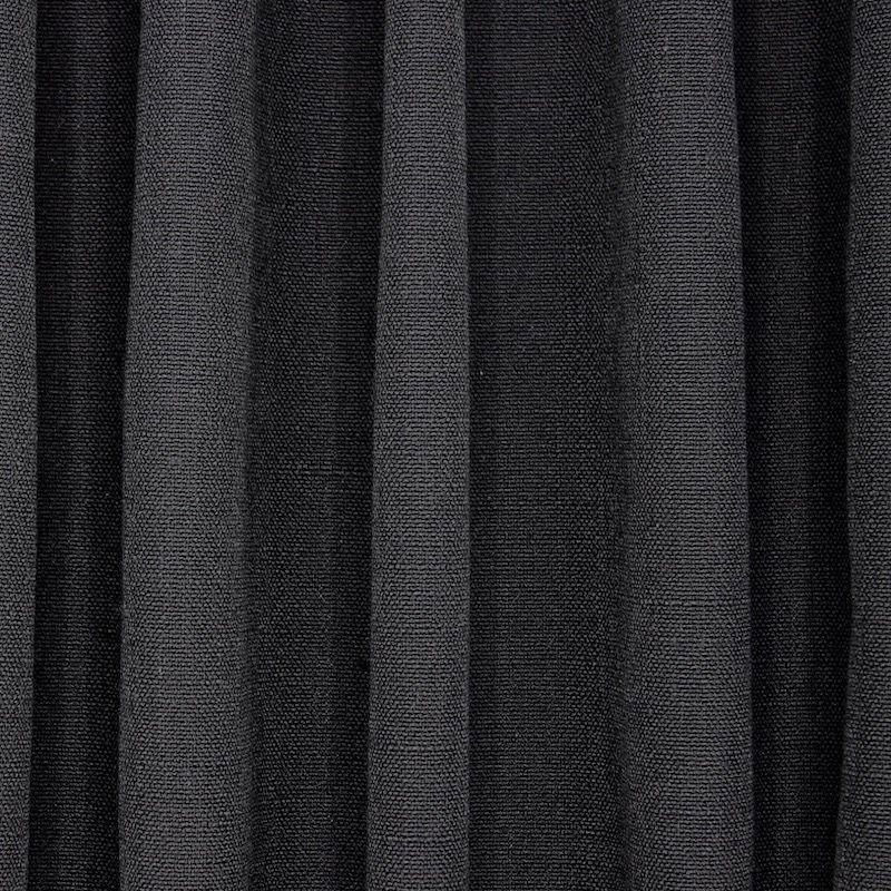 Tissu  d'ameublement aspect lin noir