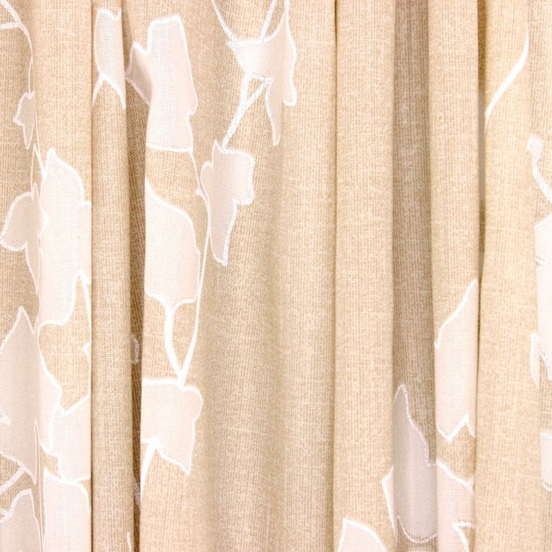 Upholstery fabric with flowers - beige