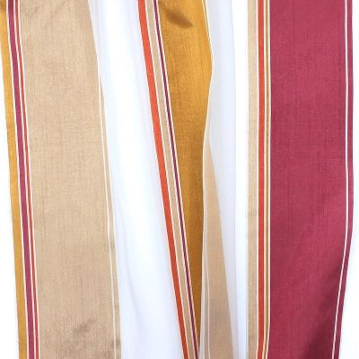 Transparent veil with tricolored stripes - beige