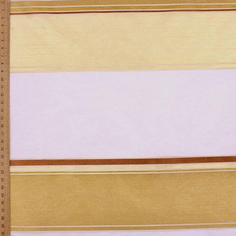 Doorzichtige sluier met linnen aspect - champagnekleurig