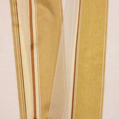 Doorzichtige sluier driekleurige banden - champagne