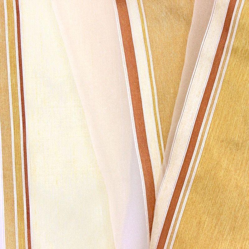 Voile transparent bande tricolore - champagne