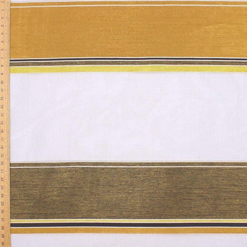 Transparent veil with tricolored stripes - black