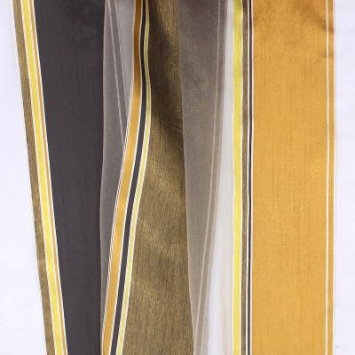 Doorzichtige sluier driekleurige banden - zwart