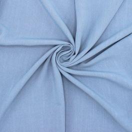 Tissu viscose et lin - bleu