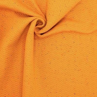 Tissu sweat moucheté - safran