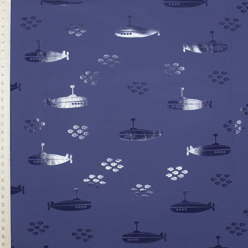 Tissu imperméable sous-marin - Bleu marine