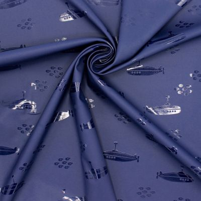 Waterproof fabric with submarine - navy blue