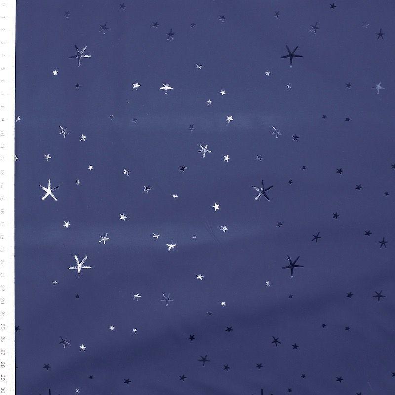 Waterdichte stof met sterren - marineblauw
