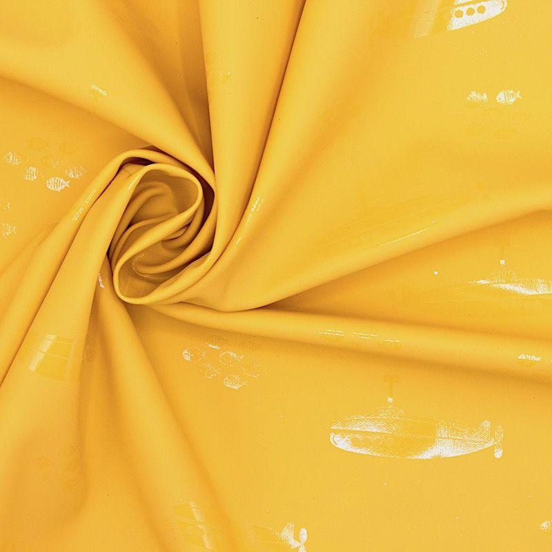 Tissu imperméable sous-marin - jaune
