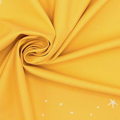 Tissu imperméable étoiles - jaune