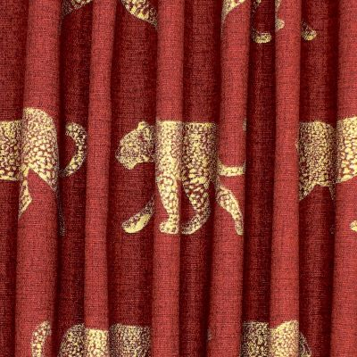 100% katoen met gouden luipaard - roestkleurig