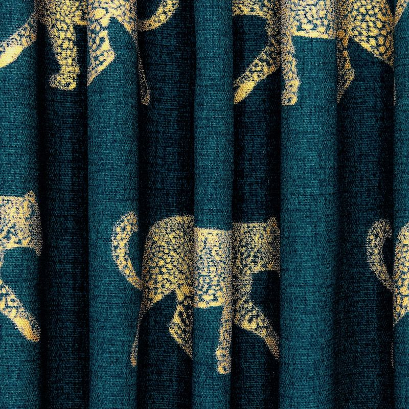 100% katoen met gouden luipaard - eendgroen