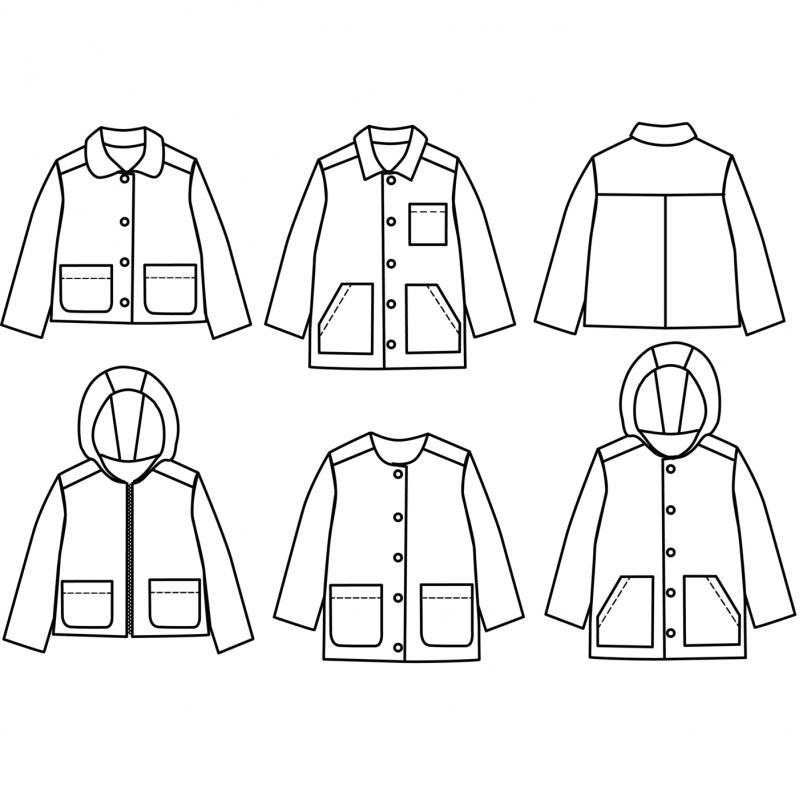 Pattern jacket or parka Sam
