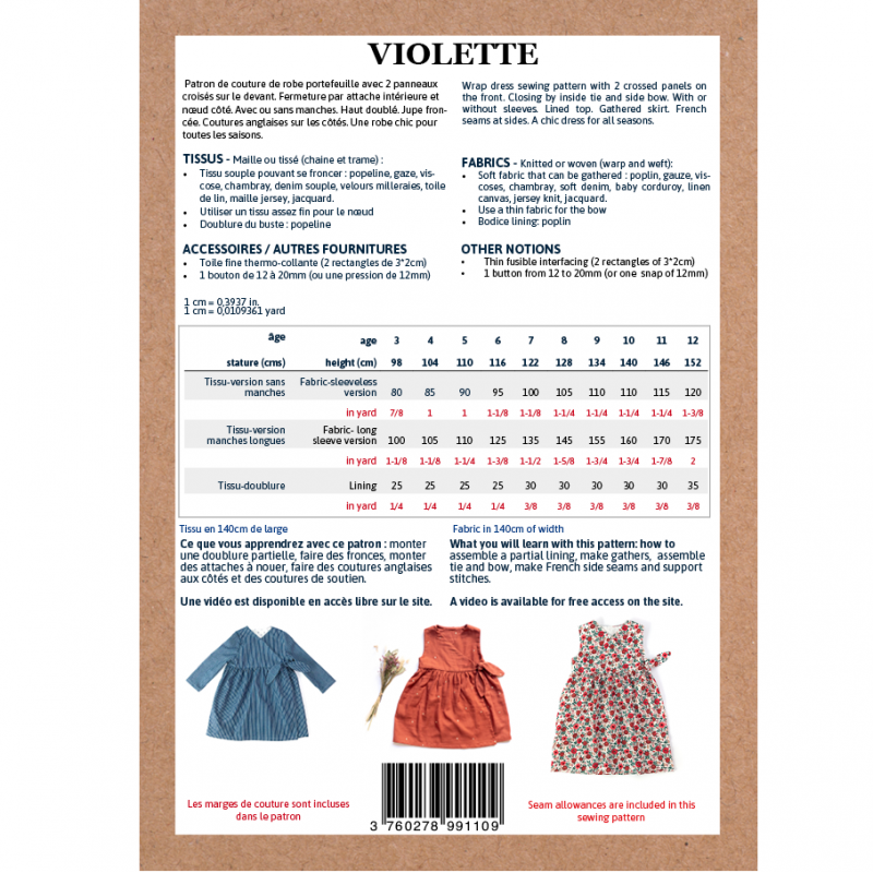 Patroon vrouwen wikkeljurk Violette